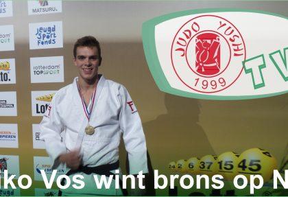 Biko Vos wint brons op NK Judo volwassenen