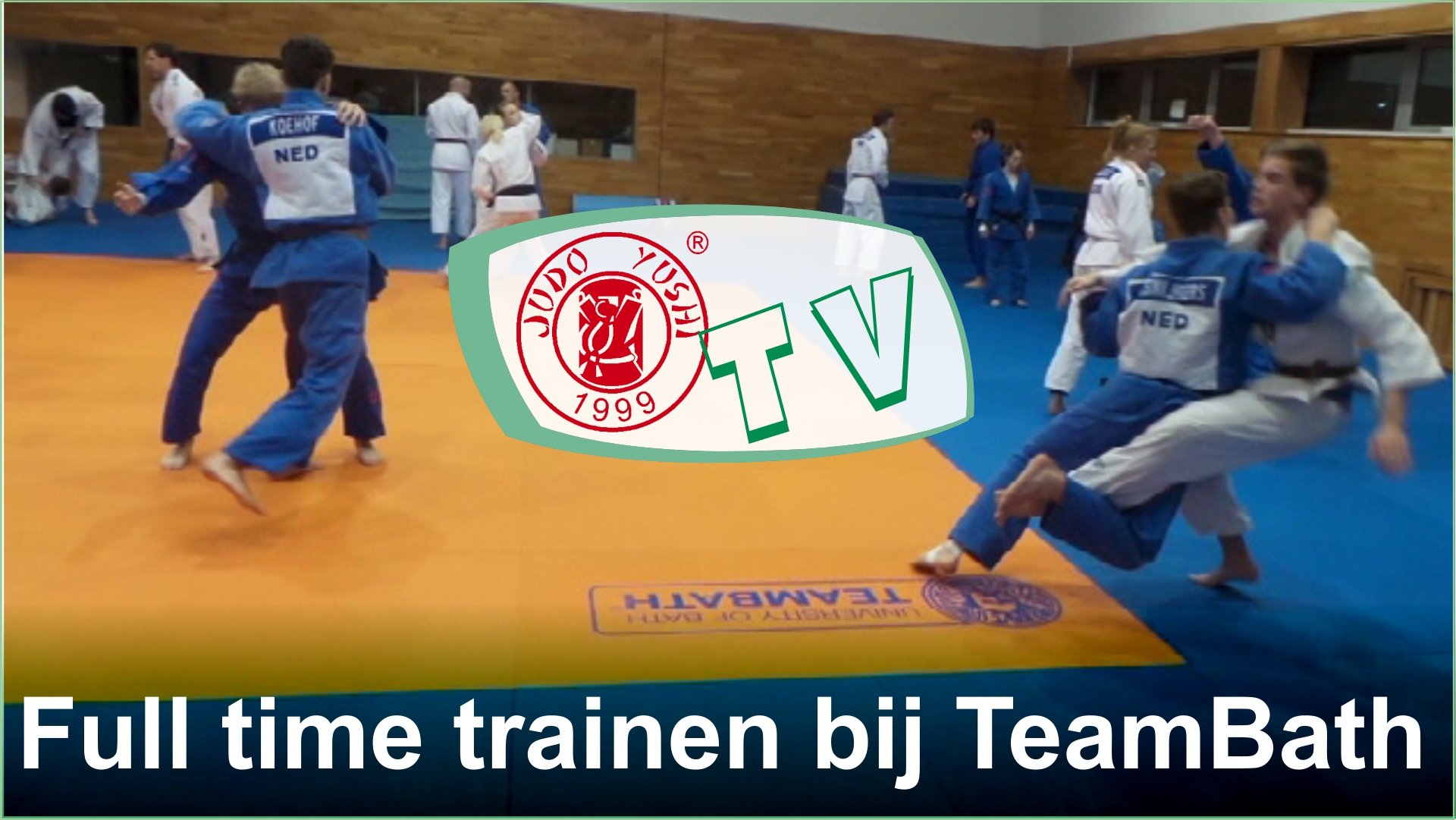 Judo Yushi traint week full time bij Team Bath