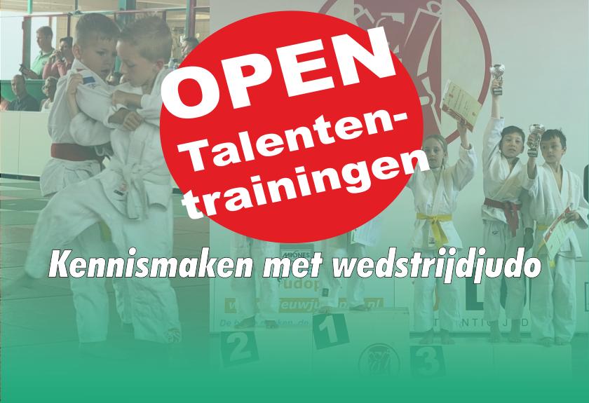 Judo Yushi Open Talententrainingen; maak kennis met wedstrijdjudo!