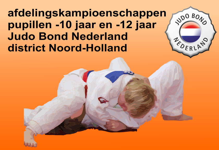 Judo Yushi afdelingskampioenschappen district Noord-Holland afdeling zuid west Judo Bond Nederland