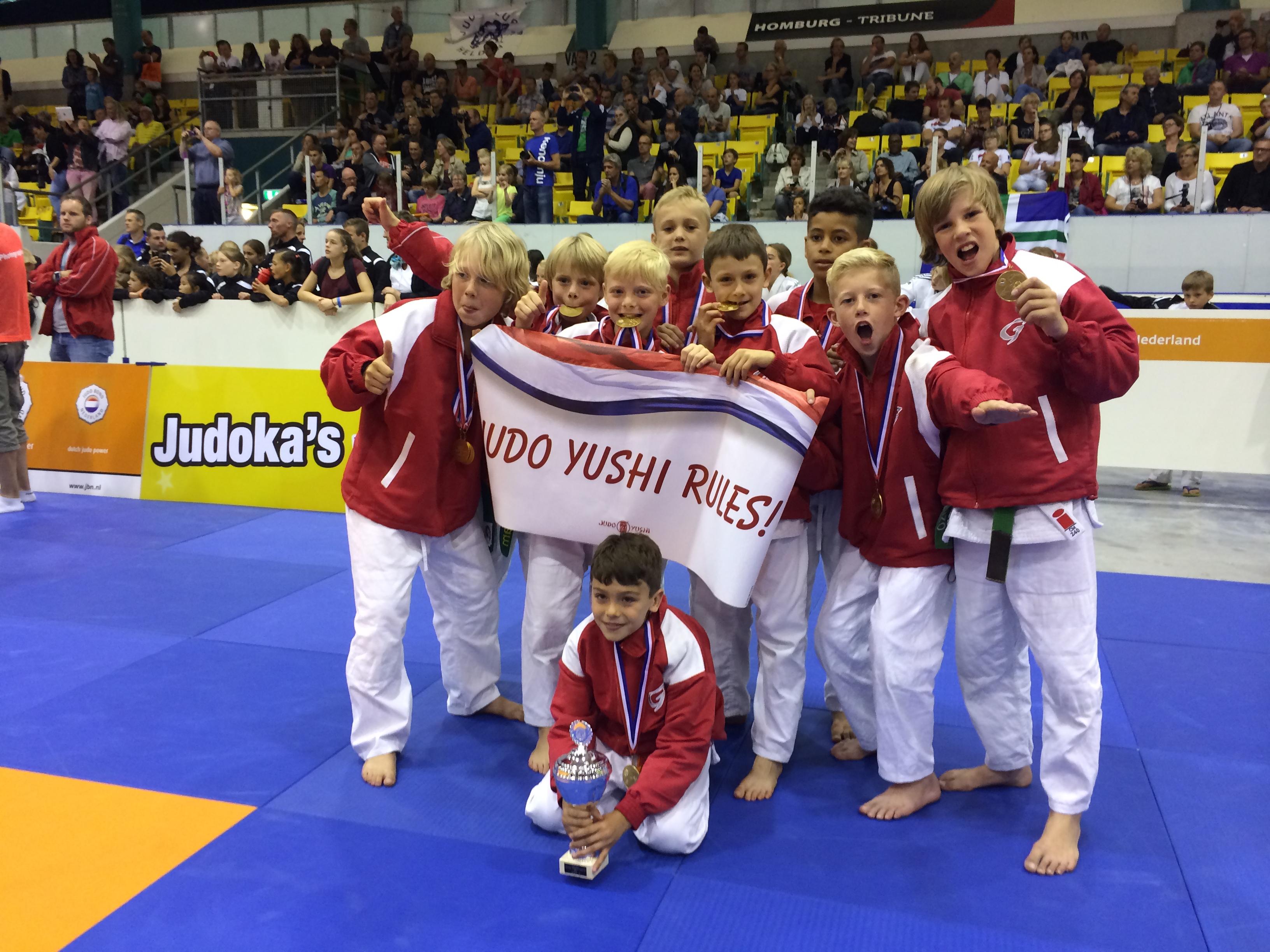 Judo Yushi wedstrijdjudo team -12 jaar