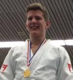Judo Yushi Twan van der Werff NK -21 kampioen van Nederland