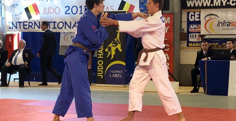 Hainaut Cup Belgie met twee judoka's van Judo Yushi in de halve finale u73 kg: Christopher Groot en Jelle van der Werff