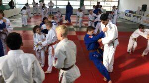Judo Yushi en Differdange training van ko-uchi-gari