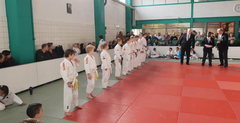 Judo Yushi in de WFJJC de jeugdteamcompeitite van de WFJC - thuiswedstrijd bij Judo Yushi