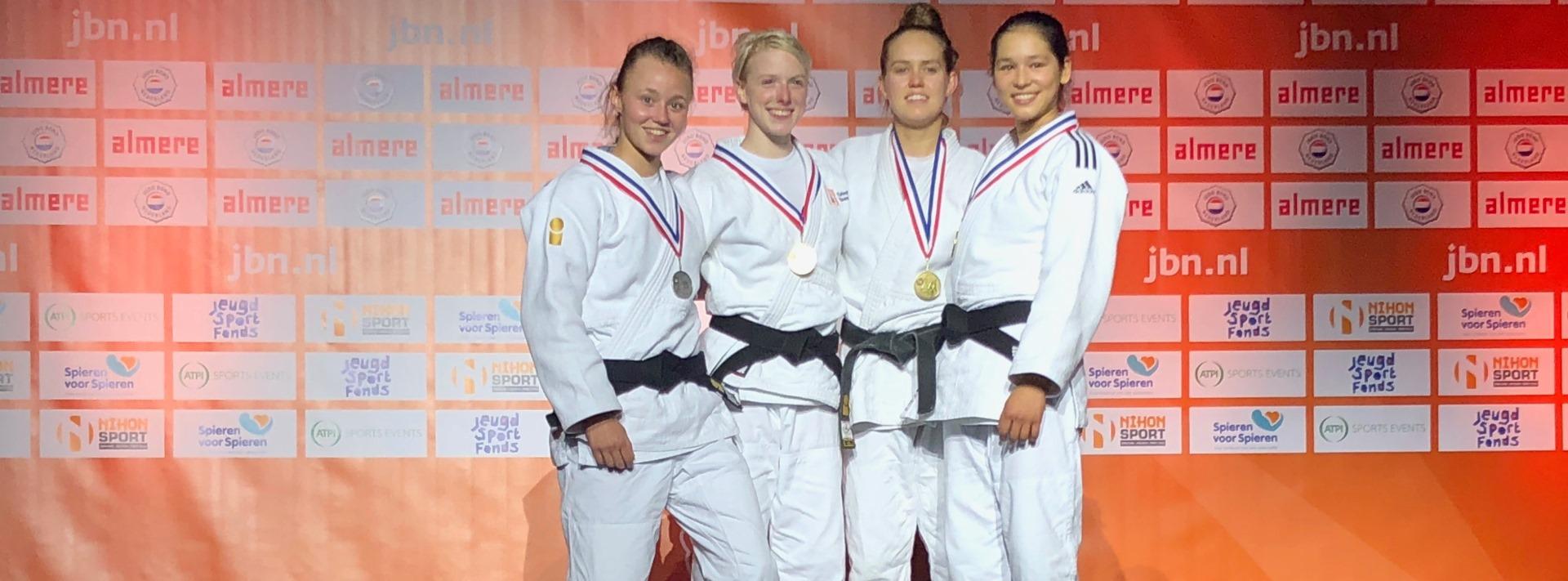 NK Judo 2018 Ilse Buren zilver