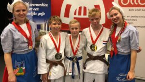 Open Alkmaase 2018 prijzen Judo Yushi Max - Twan - Luca