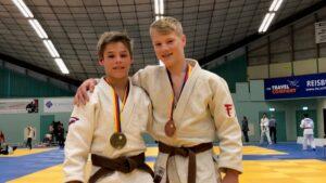 Judo Yushi - Markus Feddema en Lucas Beelen podium kampioenschap van Noord-Holland tot 15 jaar