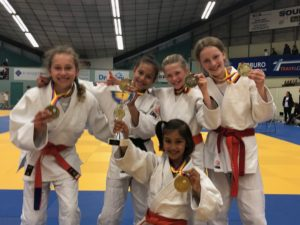 Judo Yushi - kampioenschap van Noord-Holland teams meisjesteam -12 2019