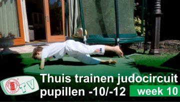 Judo Thuis Trainen judo u10 u12 oefeningen judocircuit week 10