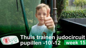 Judocircuit Thuis Trainen u10 u12 week 15