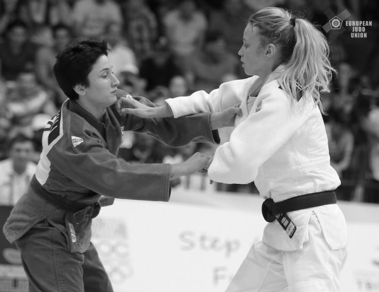 Judo Yushi judoka Ilse Buren in finale EYOF