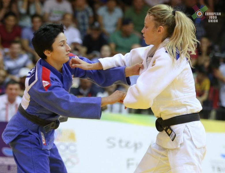 Judo Yushi judoka Ilse Buren in de finale op de EYOF