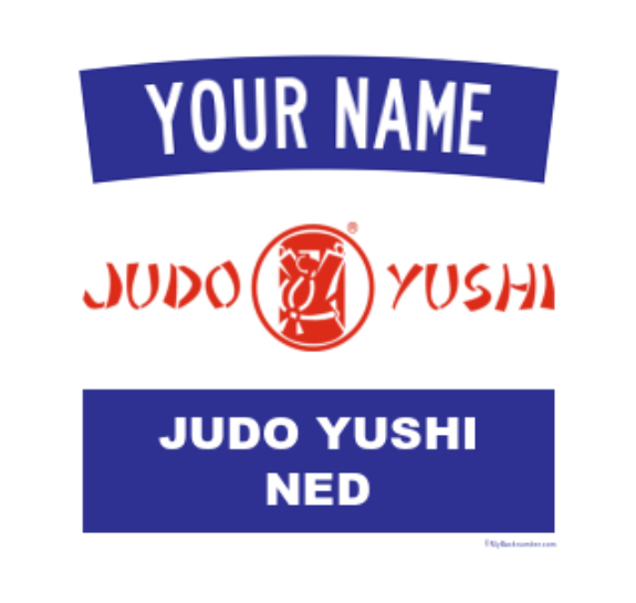 Officieel Judo Yushi clubembleem my backnumber