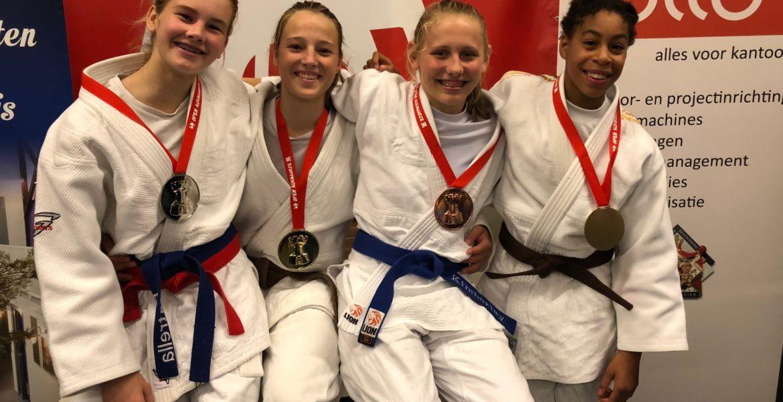 Open Alkmaase 2018 prijzen Judo Yushi Estrella - Sammy - Kimberley - Maira