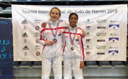 Harnes 2018 - Judo Yushi Estrella Otte en Maira Medema