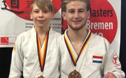 Judo Yushi judoka's Raynaldo Kuijpers en Max Stikkelorum brons op Bremen Masters