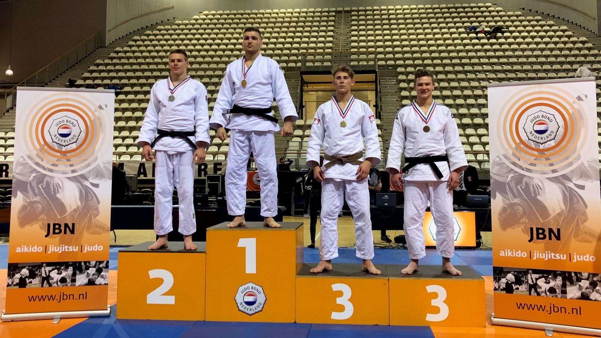 Judo Yushi Loek van der Veld nku21 2019 u90 kg 3e podiumpfoto