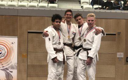 Judo Yushi - NK u18jaar 2019 - Jelle van der Werff kampioen van Nederland podiumfoto