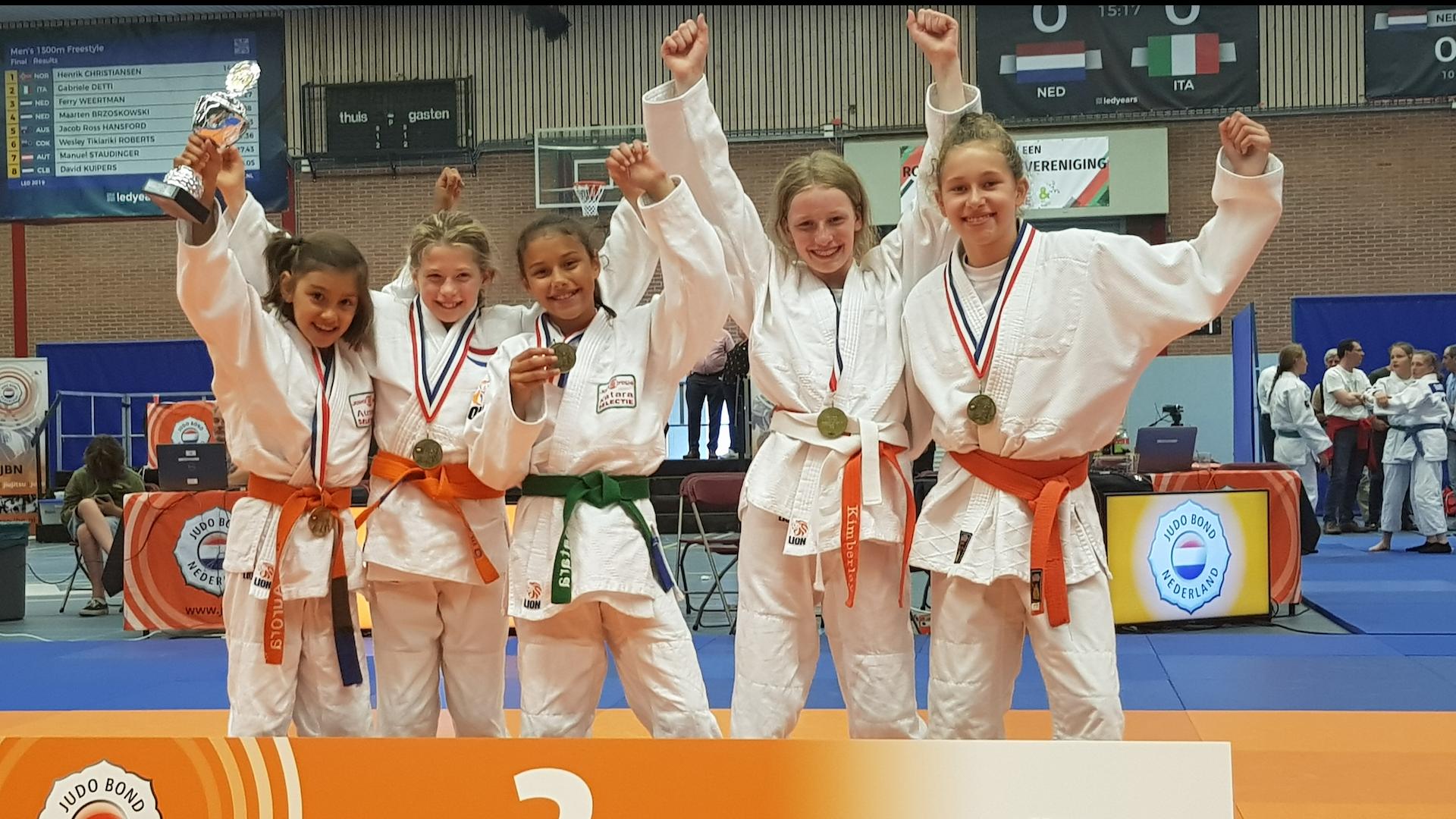 Judo Yushi nieuws NK Jeugdteams 2019 meisjesteam tot 12 jaar 3e van Nederland