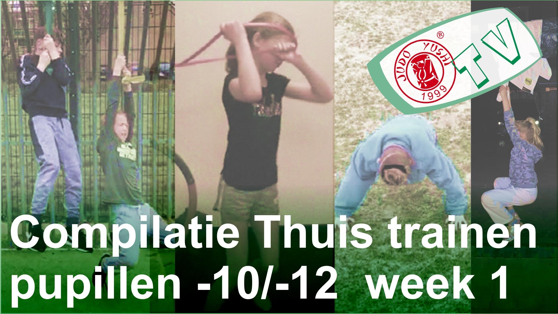 Compilatie week 1 Thuis trainen pupillen -10 / -12