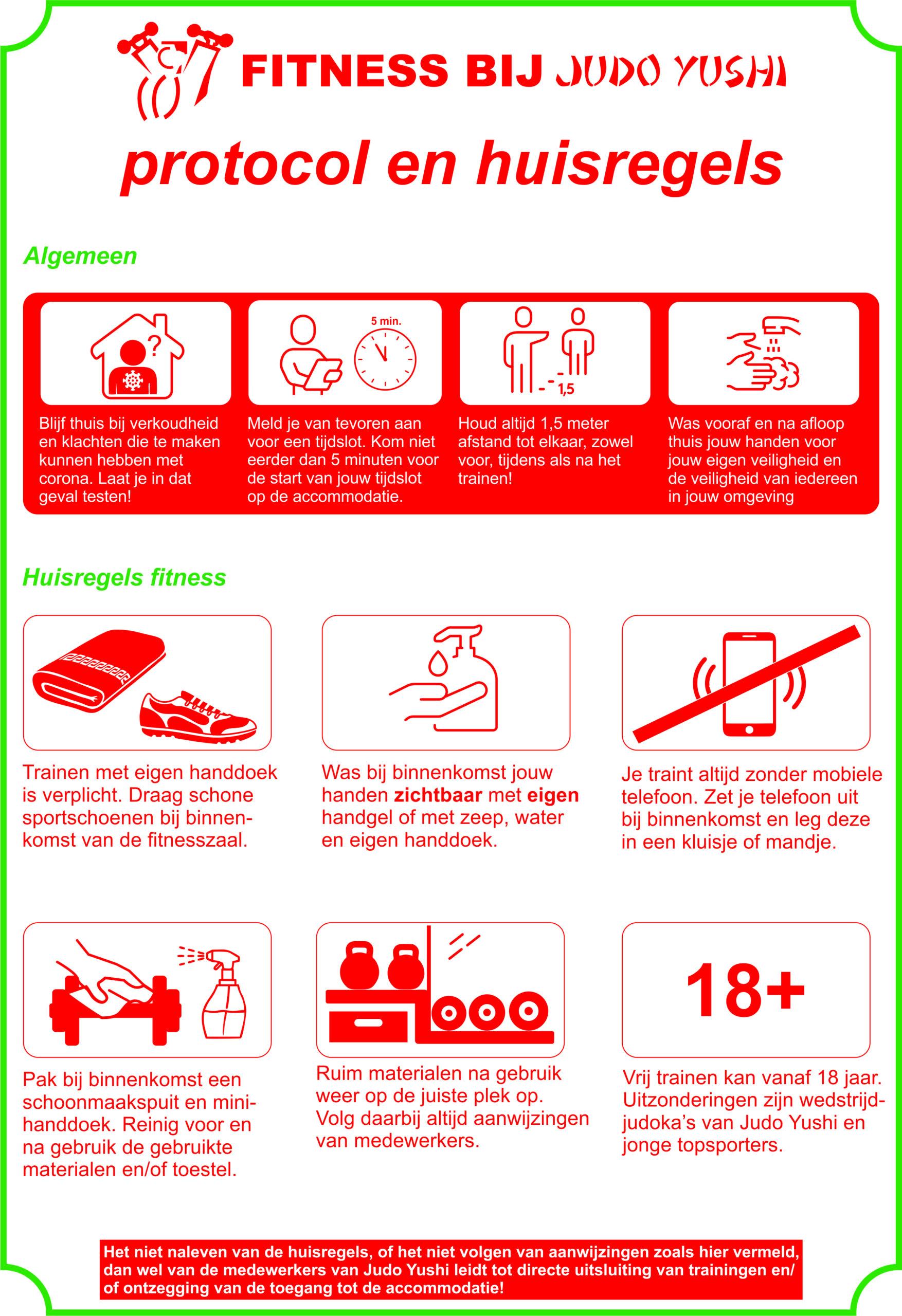 protocol en huisregels binnentrainingen fitness