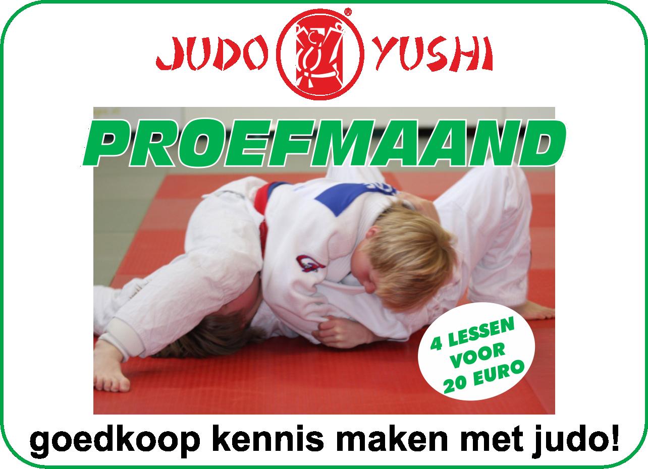 Judo Yushi Proefmaand; goedkoop kennis maken met judo bij Judo Yushi